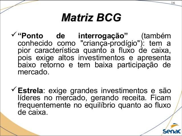 """16 ©The McGraw-Hill Companies, Inc., 2004 Matriz BCGMatriz BCG """"Ponto de interrogação"""" (também conhecido como """"criança-pr..."""