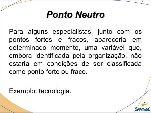 5 ©The McGraw-Hill Companies, Inc., 2004 Ponto NeutroPonto Neutro Para alguns especialistas, junto com os pontos fortes e ...