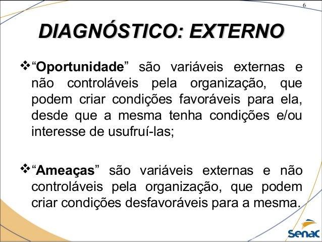 """6 ©The McGraw-Hill Companies, Inc., 2004 DIAGNÓSTICO: EXTERNODIAGNÓSTICO: EXTERNO """"Oportunidade"""" são variáveis externas e..."""