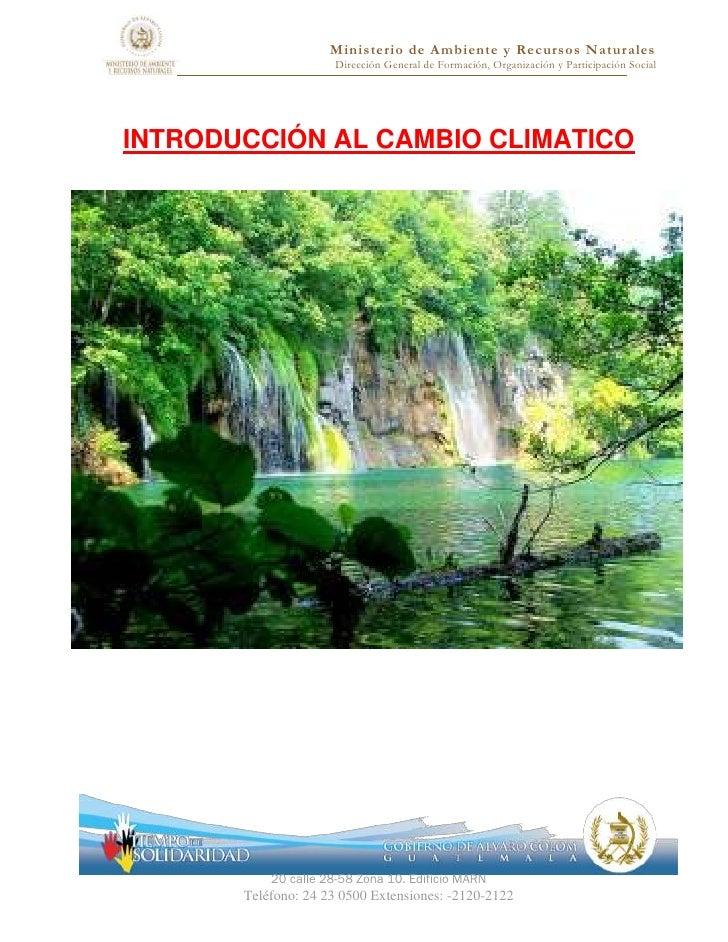 Ministerio de Ambiente y Recursos Naturales                      Dirección General de Formación, Organización y Participac...