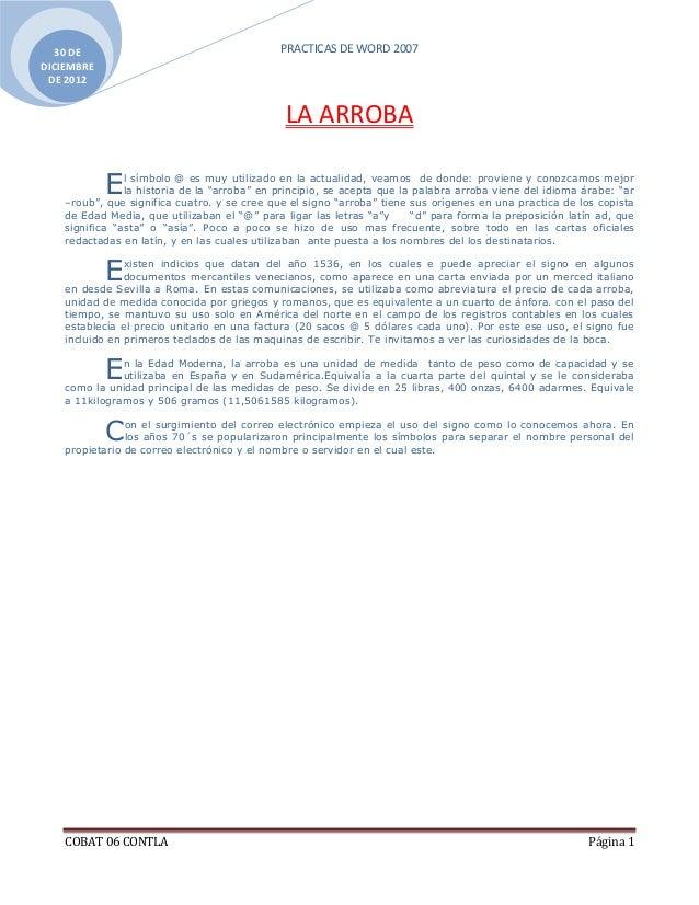 30 DE                                       PRACTICAS DE WORD 2007DICIEMBRE DE 2012                                       ...