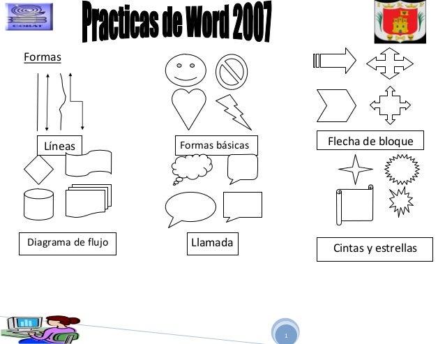 Modulo iii practicas de word 3 formas lneas formas bsicas flecha de bloquediagrama de flujo llamada ccuart Image collections