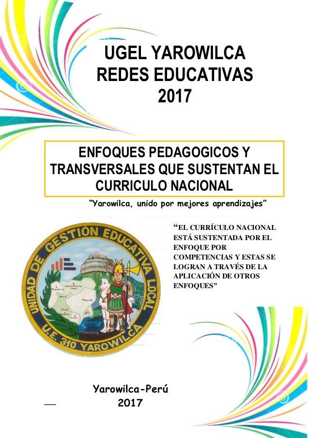 Modulo Iii Enfoques Pedagógicos Y Transversales Que