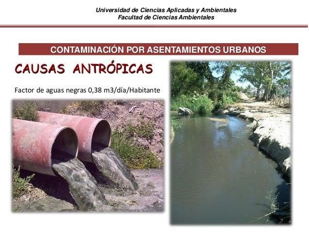 Universidad de Ciencias Aplicadas y Ambientales Facultad de Ciencias Ambientales CONTAMINACIÓN POR ASENTAMIENTOS URBANOS C...