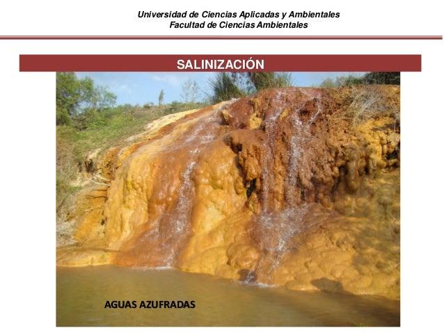 Universidad de Ciencias Aplicadas y Ambientales Facultad de Ciencias Ambientales AGUAS AZUFRADAS SALINIZACIÓN