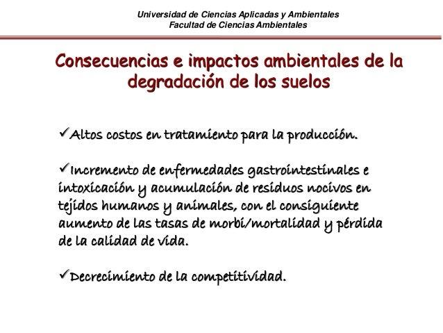 Universidad de Ciencias Aplicadas y Ambientales Facultad de Ciencias Ambientales Altos costos en tratamiento para la prod...
