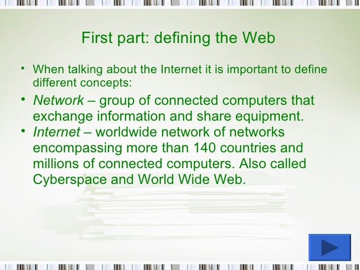 an analysis of the concept of internet and the network of millions of computers worldwide Honeygrid sits outside of an organization's network boundary on the internet,  millions of desktops and servers worldwide  threatseeker™ network:.