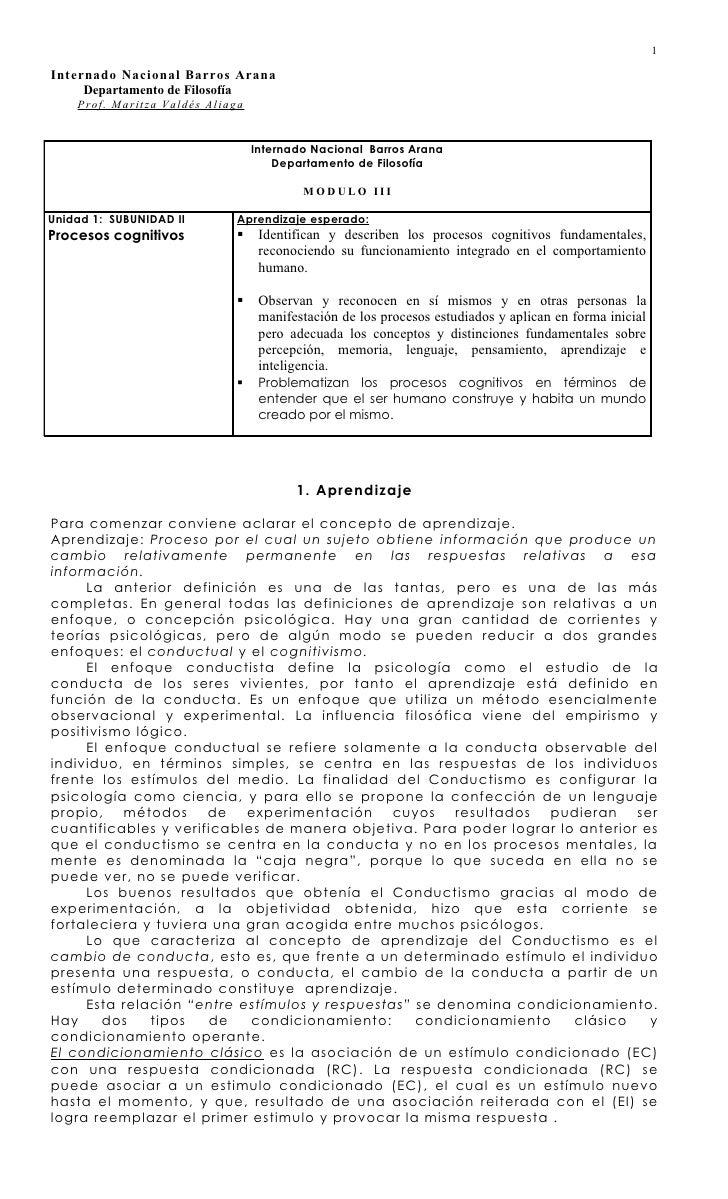 1Internado Nacional Barros Arana     Departamento de Filosofía    Pr of . Mar it z a Val dés Al i aga                     ...