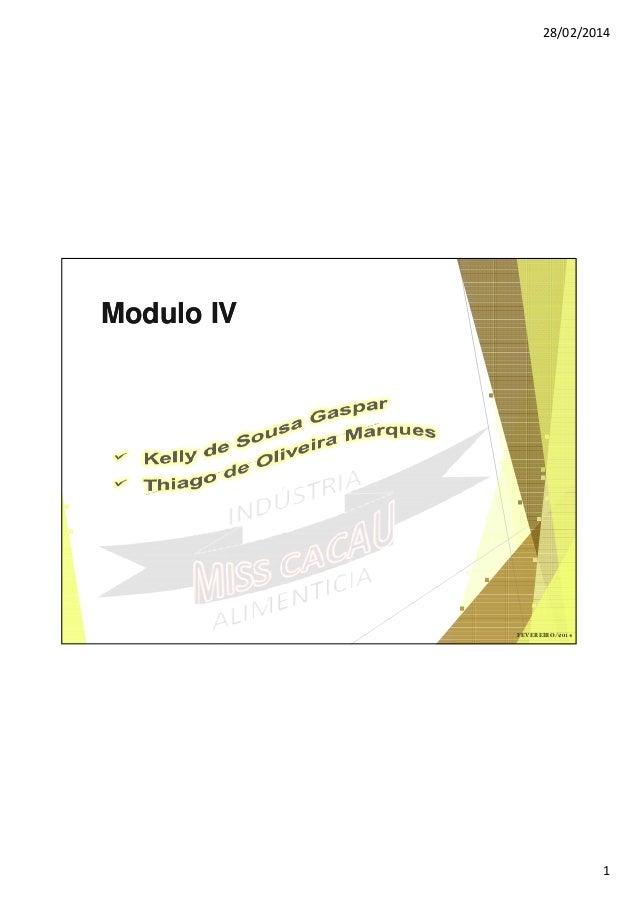 28/02/2014  Modulo IV  FEVEREIRO/2014  1