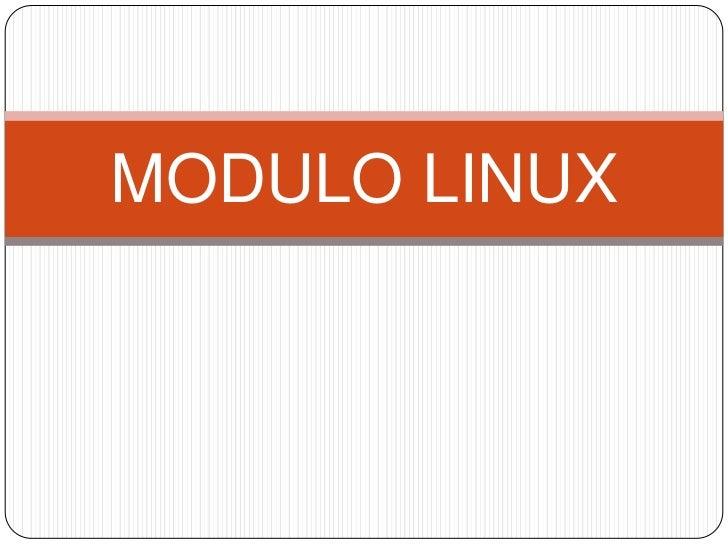 MODULO LINUX