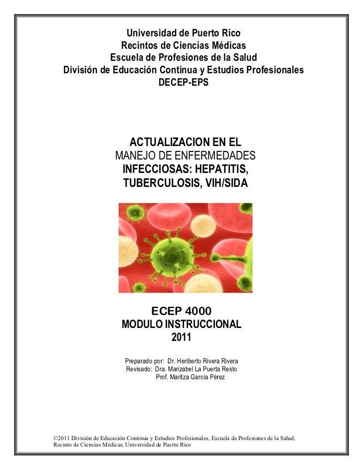 Universidad de Puerto Rico                 Recintos de Ciencias Médicas               Escuela de Profesiones de la Salud  ...