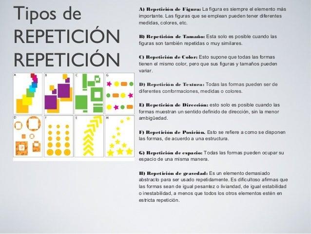 Variaciones de repetición La repetición de todos los elementos puede resultar muy monótona. La repetición de un solo eleme...
