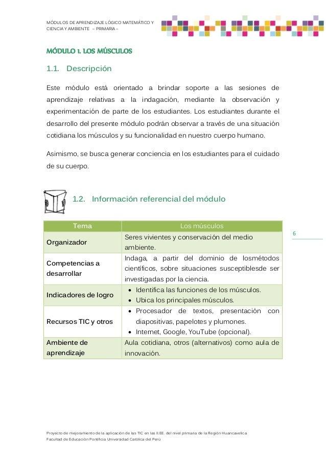 Módulos De Ciencia Y Ambiente