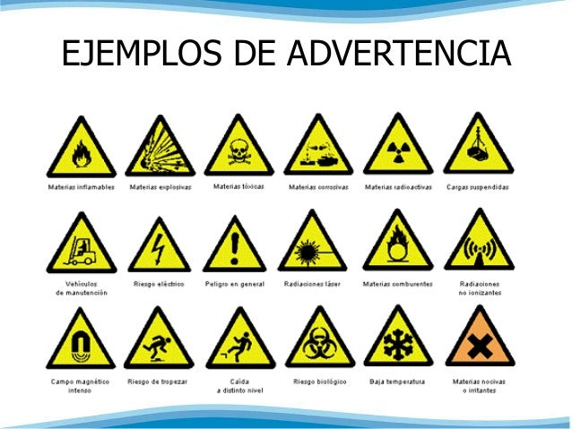 EJEMPLOS DE ADVERTENCIA