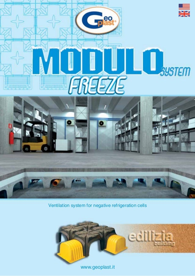 Ventilation system for negative refrigeration cells                www.geoplast.it