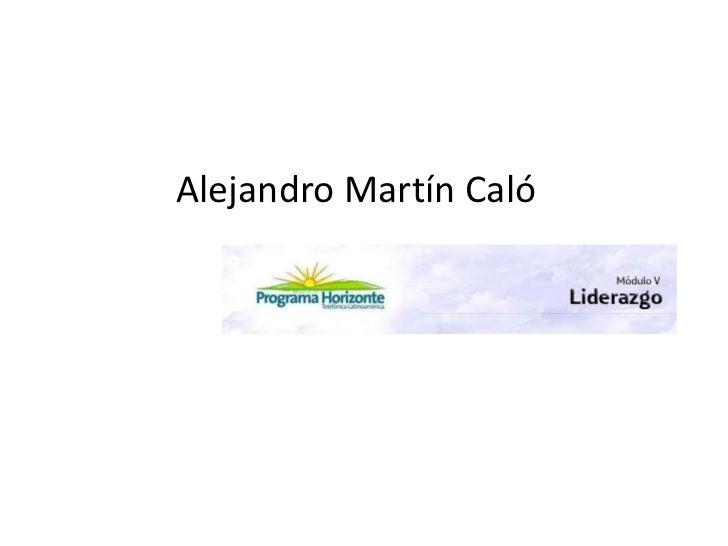 Alejandro Martín Caló<br />