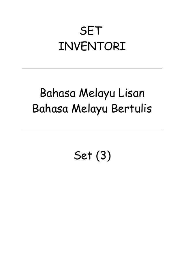 SET INVENTORI Bahasa Melayu Lisan Bahasa Melayu Bertulis Set (3)