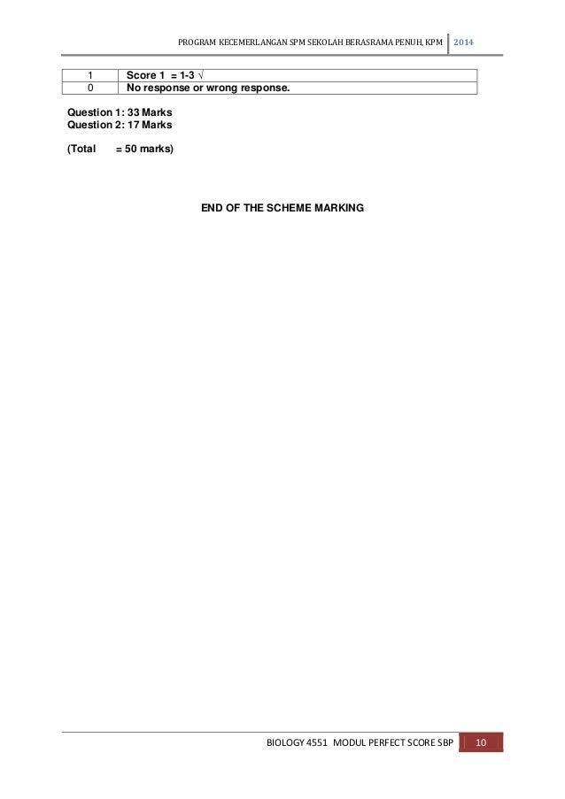 Modul perfect score sbp biology spm 2014 skema