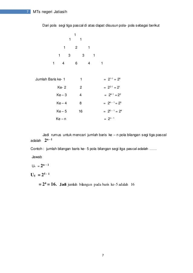 Modul pola dan barisan bilangan