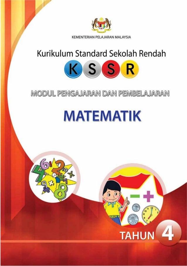 KEMENTERIAN PELAJARAN MALAYSIAKurikulum Standard Sekolah RendahMODUL PENGAJARANDANPEMBELAJARANMATEMATIK(Sekolah Kebangsaan...
