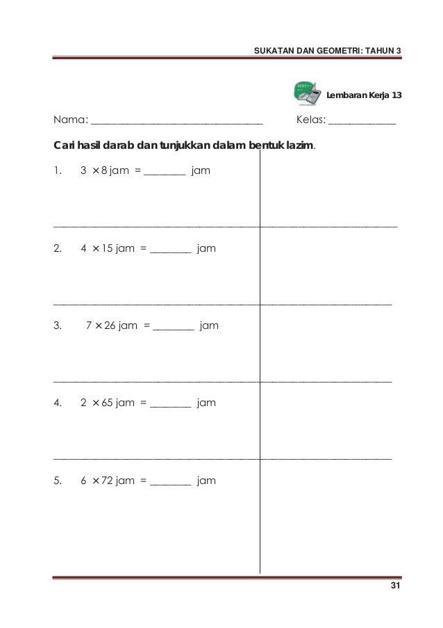 Modul P P Sukatan Dan Geometri Tahun 3 Sk