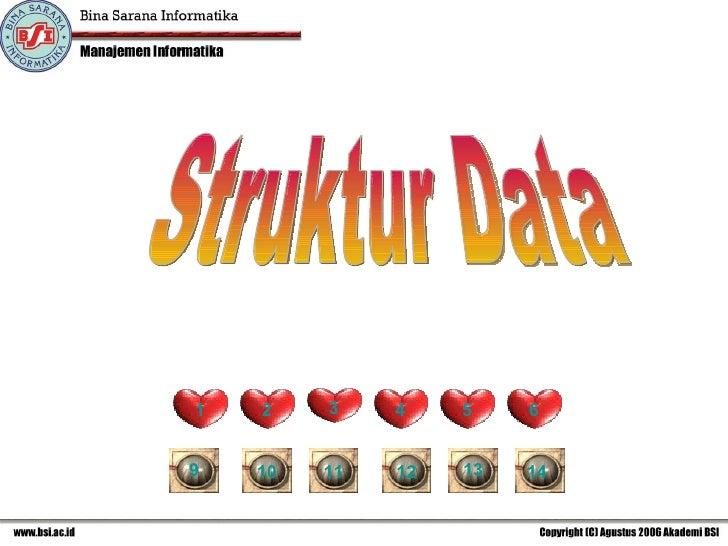 Struktur Data 1 2 3 4 5 6 9 14 13 12 11 10