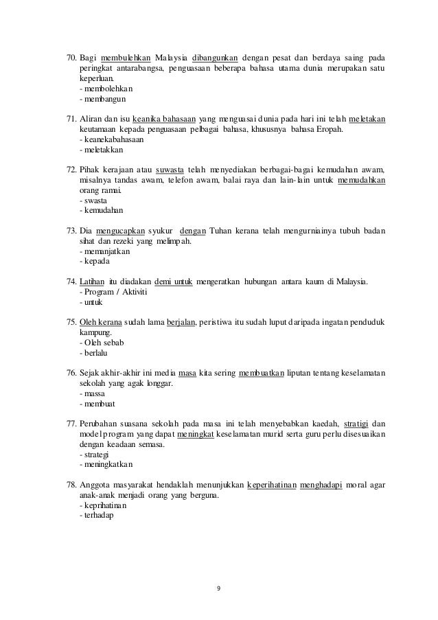 Contoh Jawapan Novel Bahasa Melayu - Casyalola