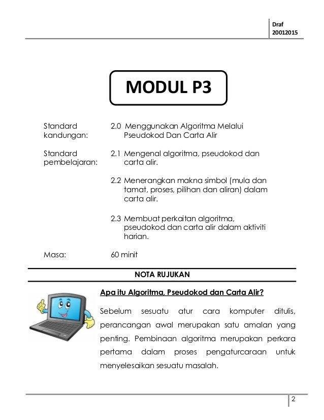 Modul Tmk Tahun 6 Modul 2 Menggunakan Algoritma Melalui Pseudokod D