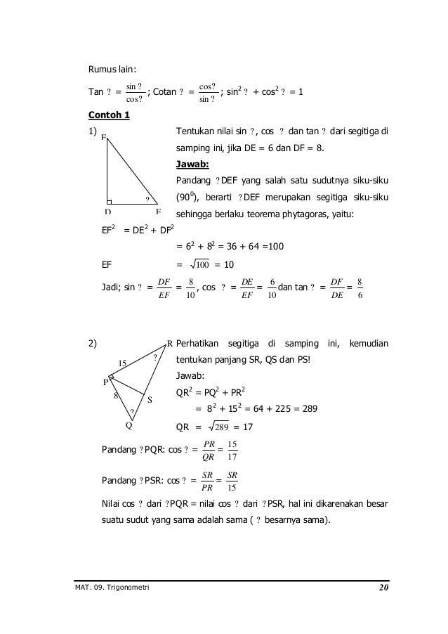 Modul Trigonometri Susunan Drs Mega Teguh B M Pd