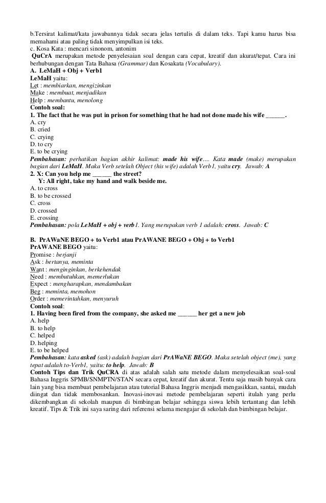 Contoh Soal Dan Jawabannya Adjective And Adverb Cara Ku Mu