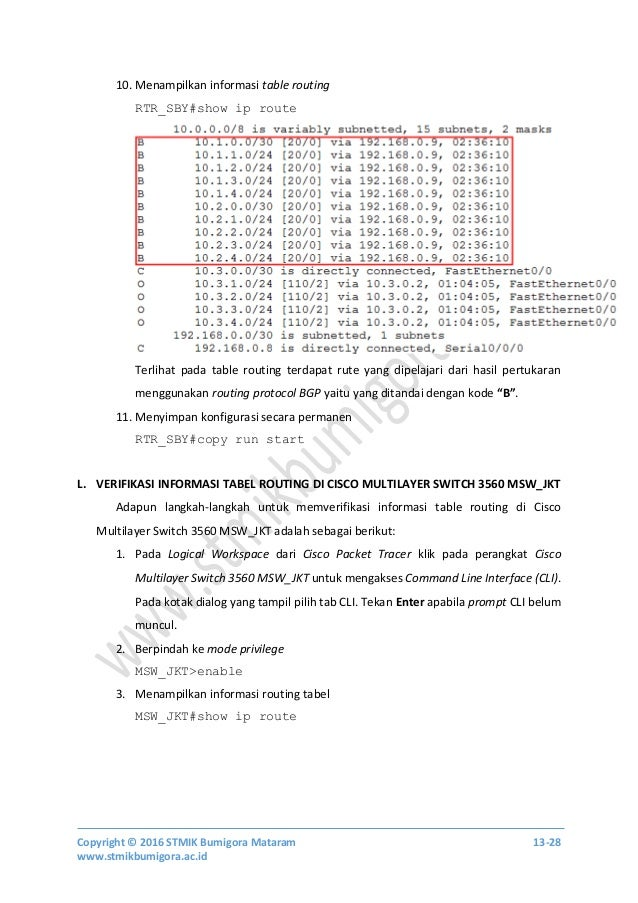 Modul Free One Day Workshop Implementing Cisco IP Routing and Switched Networks