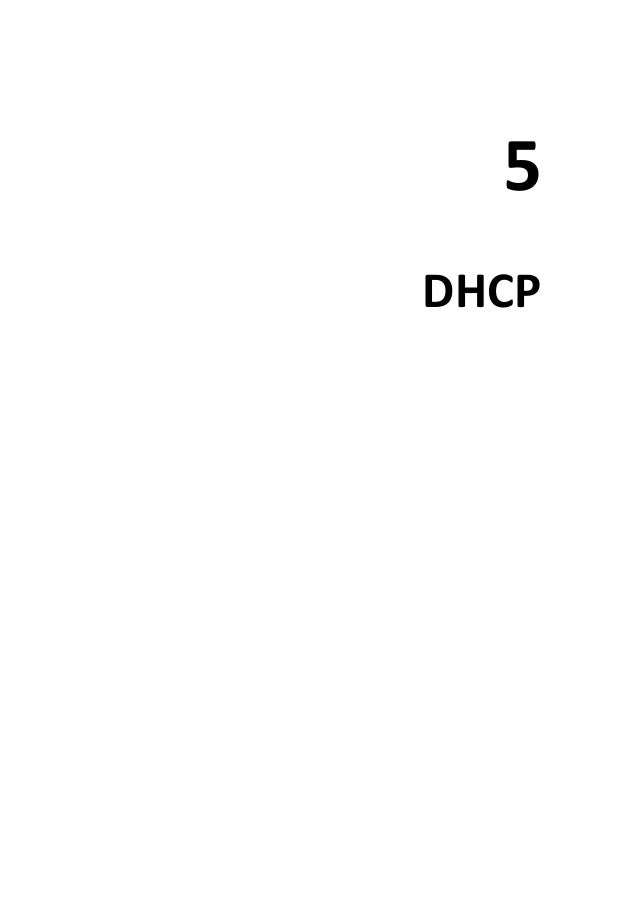5 DHCP