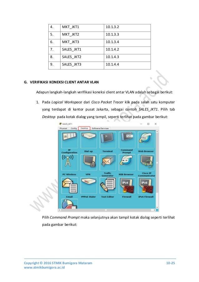Copyright © 2016 STMIK Bumigora Mataram 10-25 www.stmikbumigora.ac.id 4. MKT_JKT1 10.1.3.2 5. MKT_JKT2 10.1.3.3 6. MKT_JKT...
