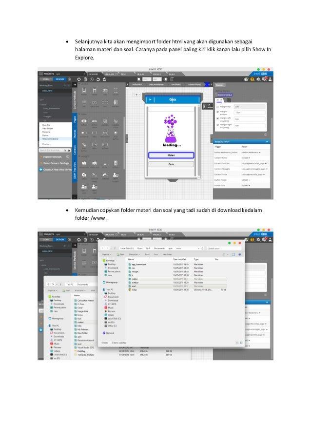 Membuat aplikasi quiz android dengan Intel XDK