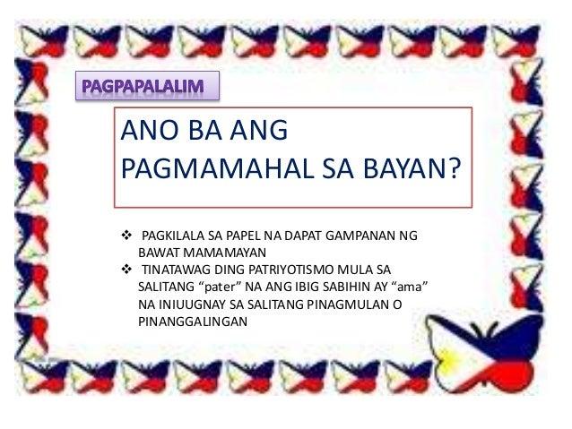 Mga Slogan Tungkol sa Pagmamahal sa Bayan