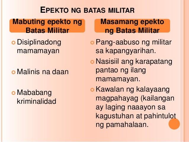 Ap batas militar.
