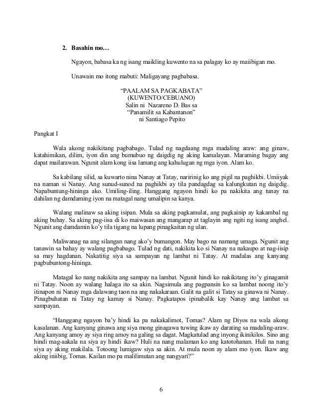 talam buhay ni nazareno d bas These files are related to paalam sa pagkabata maikling kwentong cebuano ni nazareno d bas at santiago pepito  just preview or download the desired file.