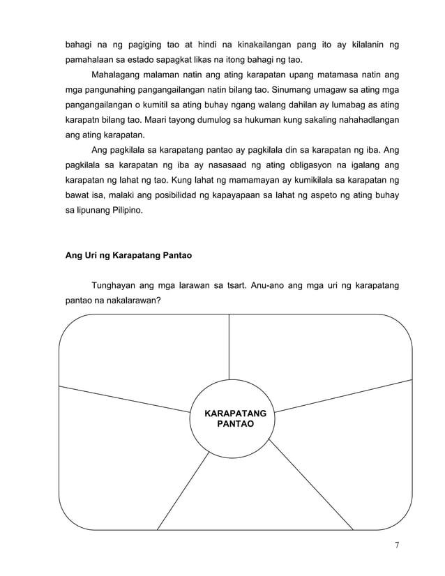 7 bahagi na ng pagiging tao at hindi na kinakailangan pang ito ay kilalanin ng pamahalaan sa estado sapagkat likas na iton...