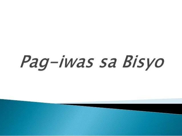 Mga Layunin  Malaman ang mga iba't ibang uri ng bisyo at mga banta sa kaayusan at katahimikan ng pamilya at mga epekto ni...