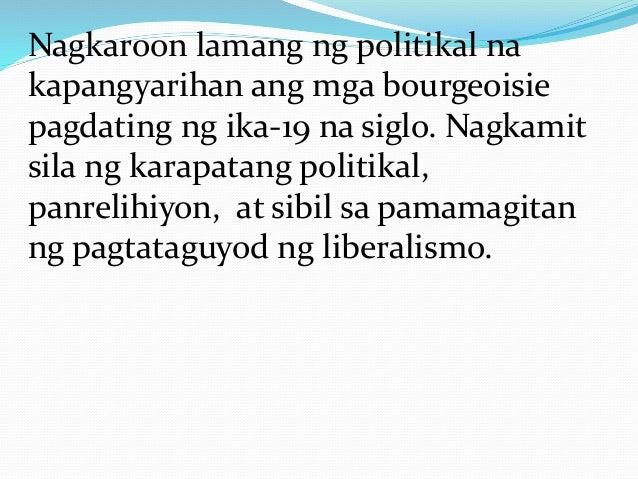 Pagbabagong Isinulong ng Bourgeoisie Ang kapangyarihan ng bourgeoisie ay unti-unting yumabong nang binigyan sila ng hari n...