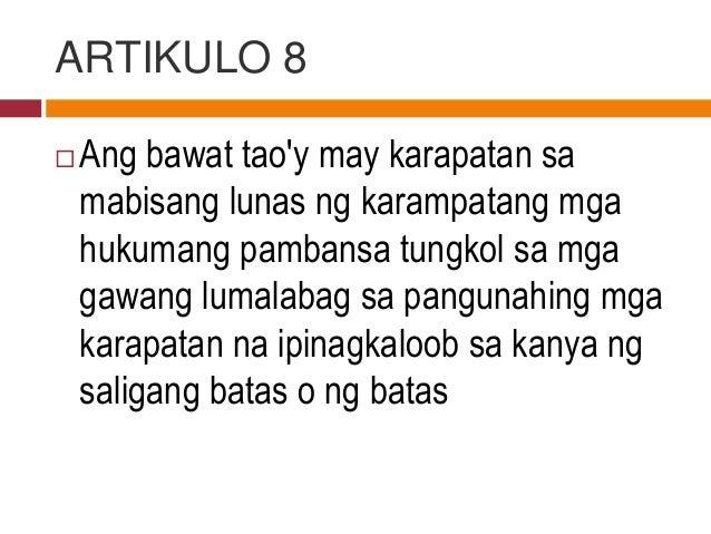 Modyul 6: ESP grade 9: Karapatan at Tungkulin