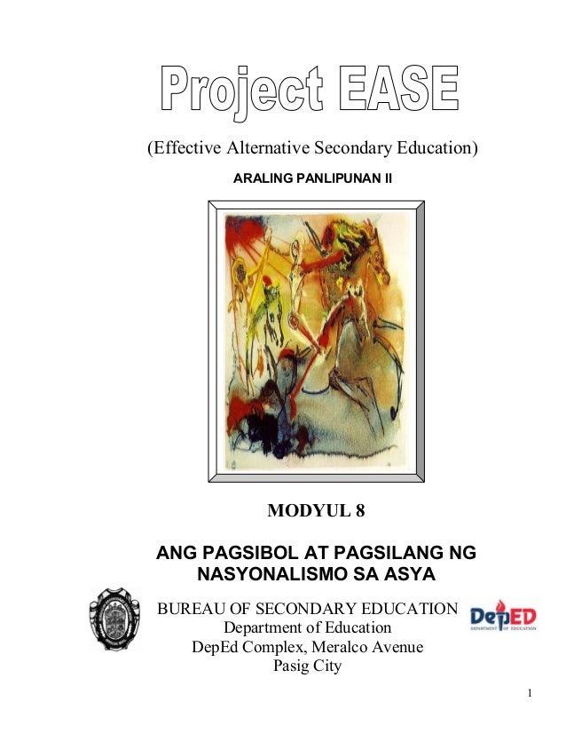 Module 16 Araling Panlipunan 4 Project Ease
