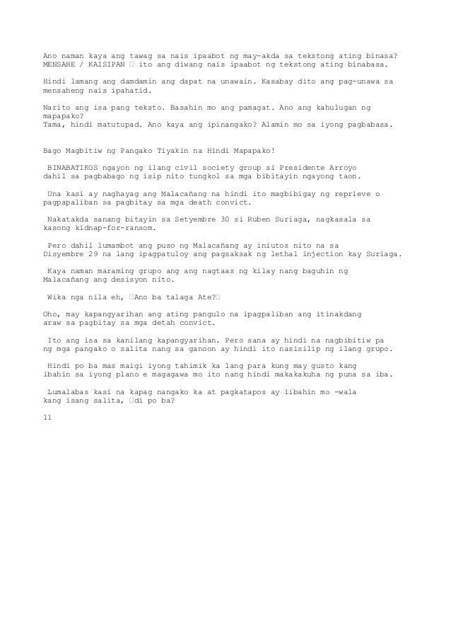 pagbabasa sa mga tekstong pang akademik Nakabubuo ng malikhaing portfolio ng mga orihinal na sulating akademik ayon sa format at teknik mga tekstong babasahin: akademik na naayon sa format at teknik.
