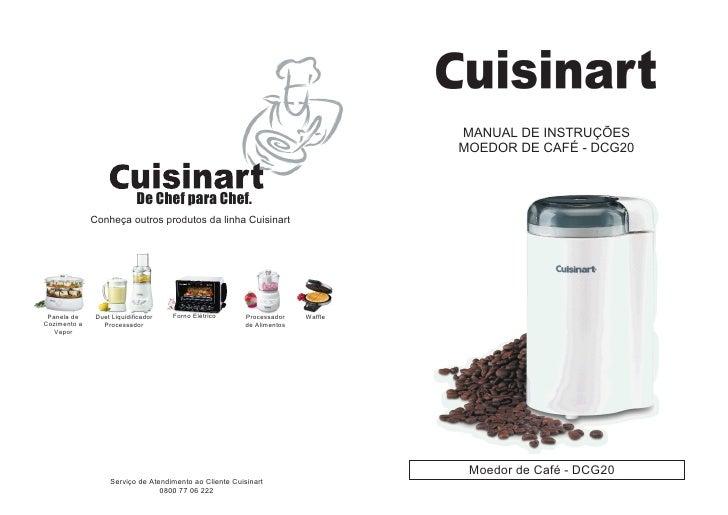 MANUAL DE INSTRUÇÕES                                                                                  MOEDOR DE CAFÉ - DCG...