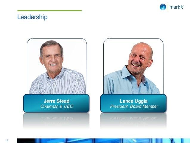 4 Leadership Jerre Stead Chairman & CEO Lance Uggla President, Board Member