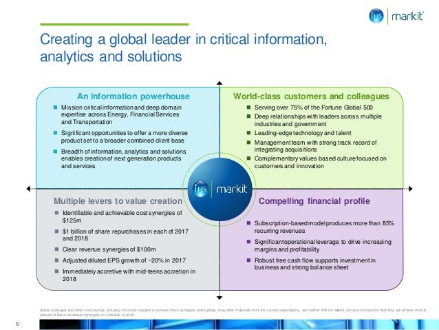 5 World-class customers and colleagues Multiple levers to value creation Compelling financial profile  Mission critical i...