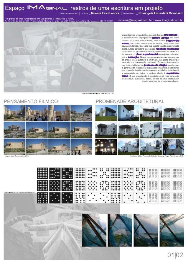 Espaço                               IMAginal: rastros de uma escritura em projeto                                        ...