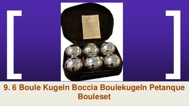Tragekorb DE Profi Boccia Spiel Boulekugeln Petanque Boule Set 8 Kugeln