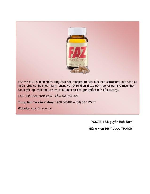 PGS.TS.BS Nguyễn Hoài Nam Giảng viên ĐH Y dược TP.HCM FAZ với GDL-5 thiên nhiên tăng hoạt hóa receptor tế bào, điều hòa ch...