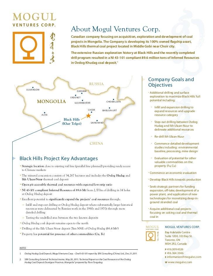 AboutMogulVenturesCorp.                                                     Canadian company focusing on acquisition, e...